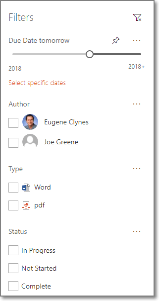 SharePoint Filters Columns