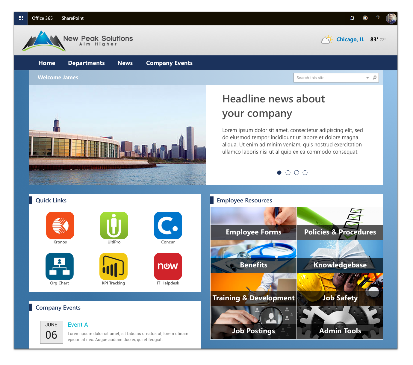 Building great SharePoint Intranets for consulting firms in Milwaukee, San Jose, Carolina, Illinois